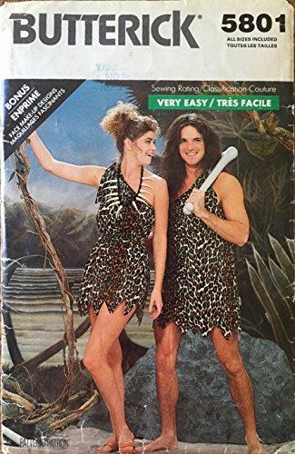 Tarzan Jane Caveman Cavewoman Pattern 5801 (Caveman And Cavewoman Costumes)