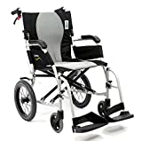 "Karman Healthcare S-2512F18S-TP Ergo Flight Transport 18"" with swing away footrest and companion brakes"