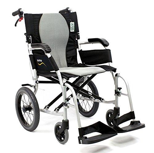 Karman Healthcare S-2512 Ergo Flight Transport Ultra Lightweight Wheelchair Luxury Seat, 18 Inch, 18 Pound