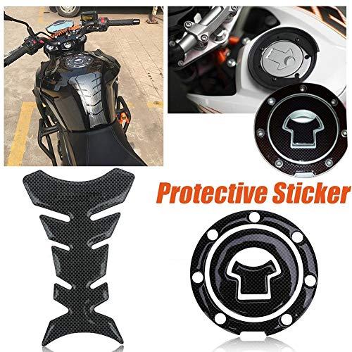 AjaxStore - Motorcycle Tank Cover Fishbone Sticker Film Protector Fuel Gas Cap Cove Pad Sticker For Honda CB250/400 CBR400 Set - Cover Fishbone
