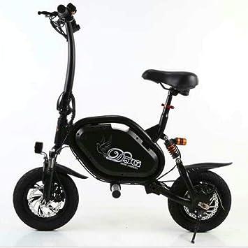 Hokaime Bicicleta eléctrica Plegable, Bicicleta eléctrica en ...
