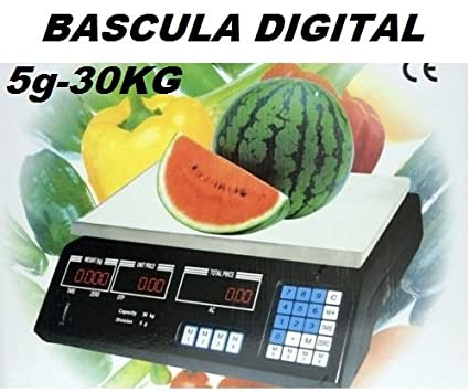 OFERTA! BASCULA DIGITAL COMERCIAL. BALANZA PESA DIGITAL ELECTRONICA PARA COMERCIO. 30KG.
