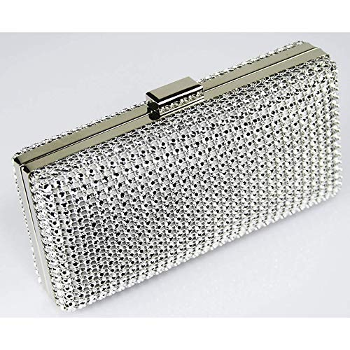 Clutch Fashion Her Silver Women's Bridal Crystal For Bag Evening Handbag Diamante Purse 5xEZSPTw