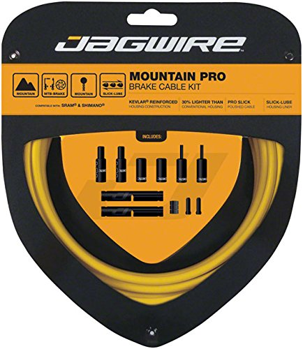 Jagwire Pro Brake Cable Kit Mountain SRAM/Shimano, Yellow by Jagwire