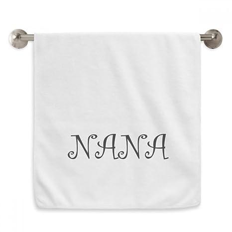 DIYthinker Toalla de baño con estampado de letras de abuelo de Nana (13x29),