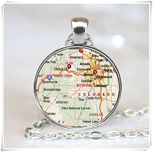 Colorado Map Pendant, Colorado Map Jewelry (Colorado Map Jewelry)