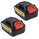 2 Pack 20v max Lithium ion battery Replacement for Dewalt 20v max xr DCB180 DCB201 DCB207 DCB771