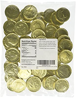 Large Gold Foiled Milk Chocolate Coins 1LB Bag from Palmer