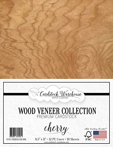 CHERRY WOOD VENEER Cardstock from Cardstock Warehouse 8.5