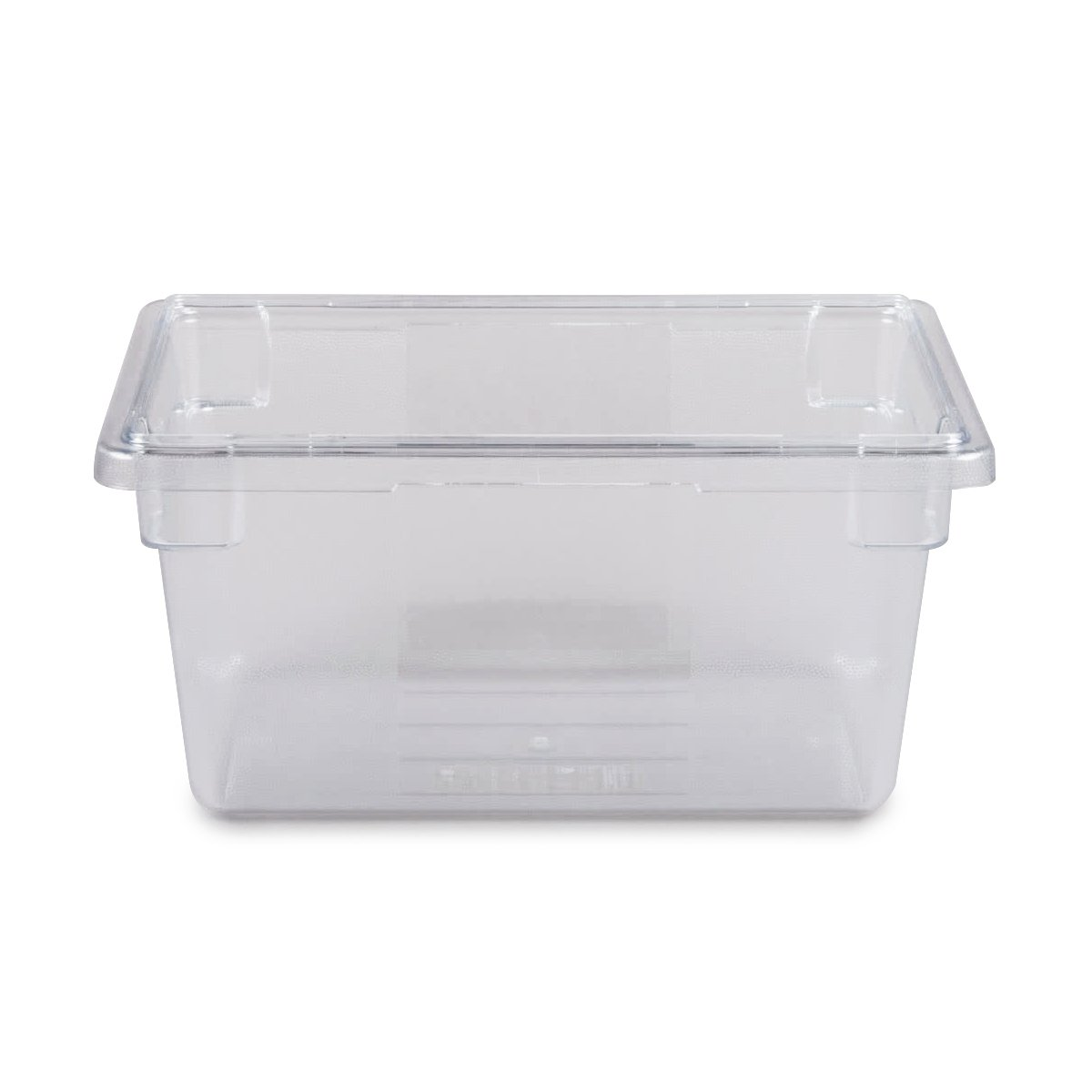 Rubbermaid Commercial 3306CLE Food/Tote Boxes, 5gal, 26w x 18d x 3 1/2h, Clear FG330400CLR