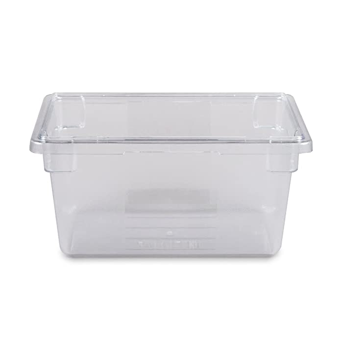 Rubbermaid Commercial Plastic 5-Gallon Food Box, Clear, FG330400CLR