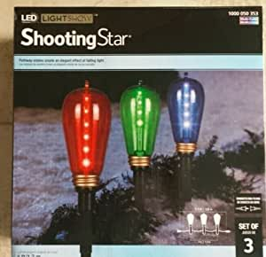 Gemmy Christmas LED Color Changing Eddison Light Bulb Pathway Markers