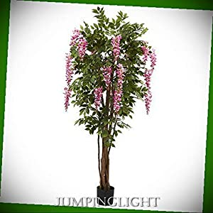 JumpingLight 6.5′ Wisteria Silk Tree Artificial Flowers Wedding Party Centerpieces Arrangements Bouquets Supplies