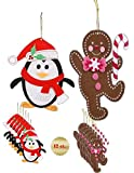 GBBD Christmas Felt Craft Kits - Home Made Tree Ornaments ( 12 Total )
