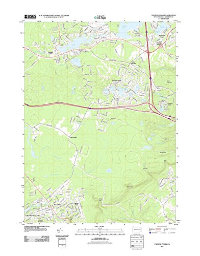 Topographic Map Poster - Pocono Pines, PA TNM GEOPDF 7.5X7.5 Grid 24000-SCALE TM 2010, 24