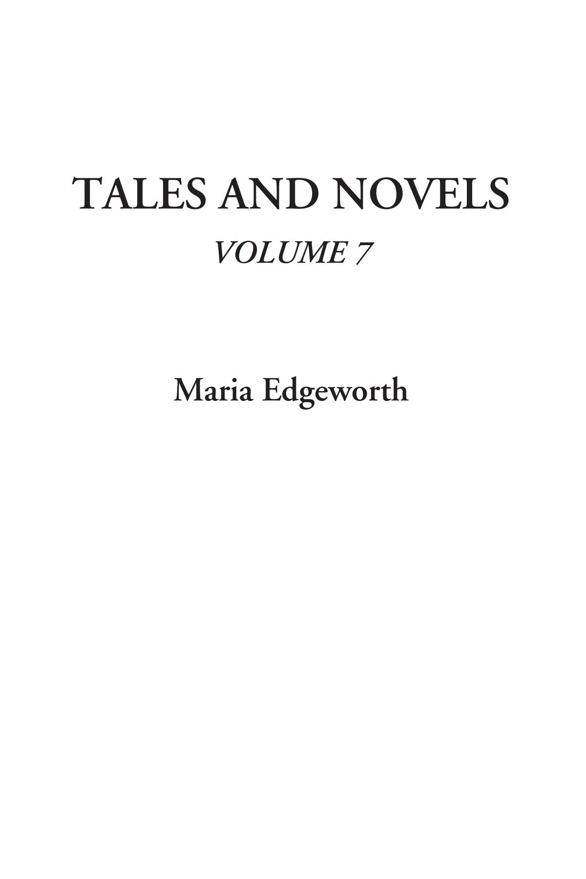 Download Tales and Novels, Volume 7 pdf epub