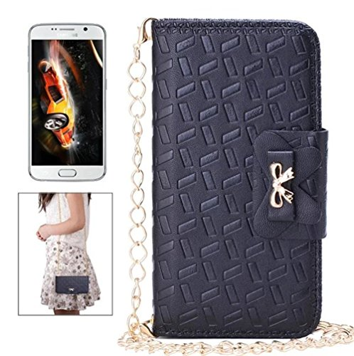 17 Rectangle Magnet (Iphone 6 plus/6s plus Case Wallet Shell,Fusicase Rectangle Shape Embossing PU Leather With Card Slot Flip Cover Bow Bowknot Magnet Bunckle Case Cover For Iphone 6 plus/6s plus 5.5