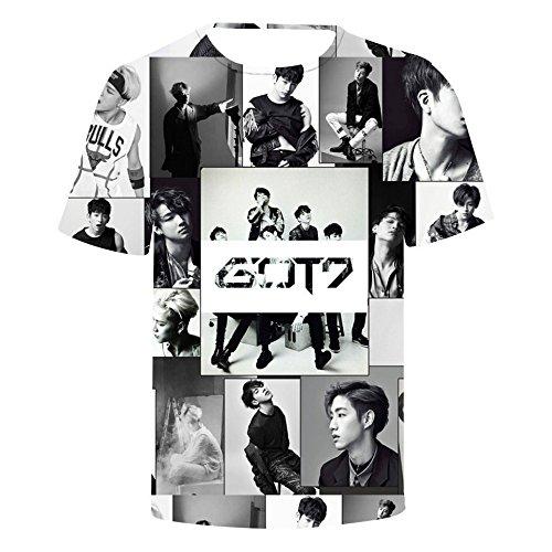 Youngjae Camicetta Mark Bluse Got7 1 Jackson Jb Kpop Top Magliette Manica Unisex Camicie Corta Estate Maglietta qa7nYw