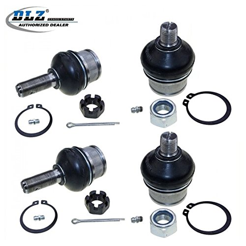 DLZ 4 Pcs Front Suspension Kit-2 Upper 2 Lower Ball Joint Compatible with 1990 1991 1992 1993 1994 1995 1996 Ford F150 F250 4WD Ford Bronco K8195T K8388T