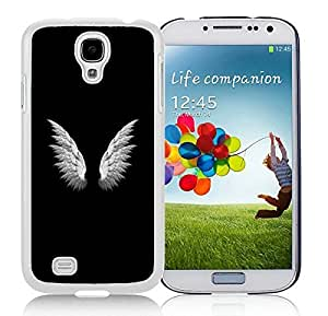 Special Custom Samsung Galaxy S4 Case Angel Wings Simple White Personalized Picture Samsung Galaxy S4 i9500 Phone Case