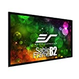 "Elite Screens SB110WH2 Home Theatre Projection Projector Screen Kit, Sable Frame B2, 110"" Diagonal, 16:9, Active 3D/4K Ultra HD Fixed Frame"