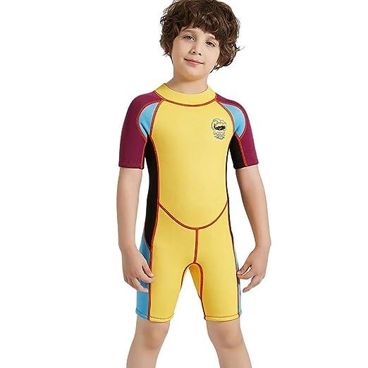 Fqmyy123123 Boys Sunscreen Wetsuit, Snorkel Surfing Swimwear ...