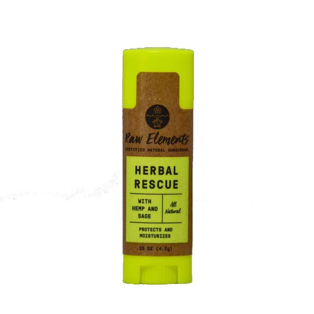 RAW ELEMENTS USA Lip Balm Herbal Rescue, 0.15 OZ