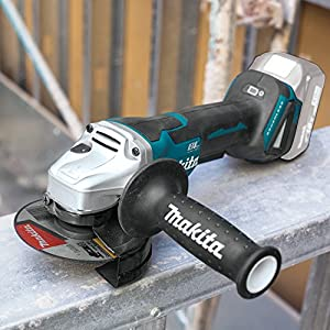 "Makita XAG11Z 18V LXT Lithium-Ion Brushless Cordless 4-1/2""/ 5 Paddle Switch Cut-Off/Angle Grinder, with Electric Brake, Tool Only"