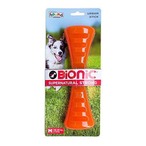 Urban Stick Durable Dog Chew Toy, Tough Dog Toy by Bionic, Medium, Orange (Bionic Six Toys)