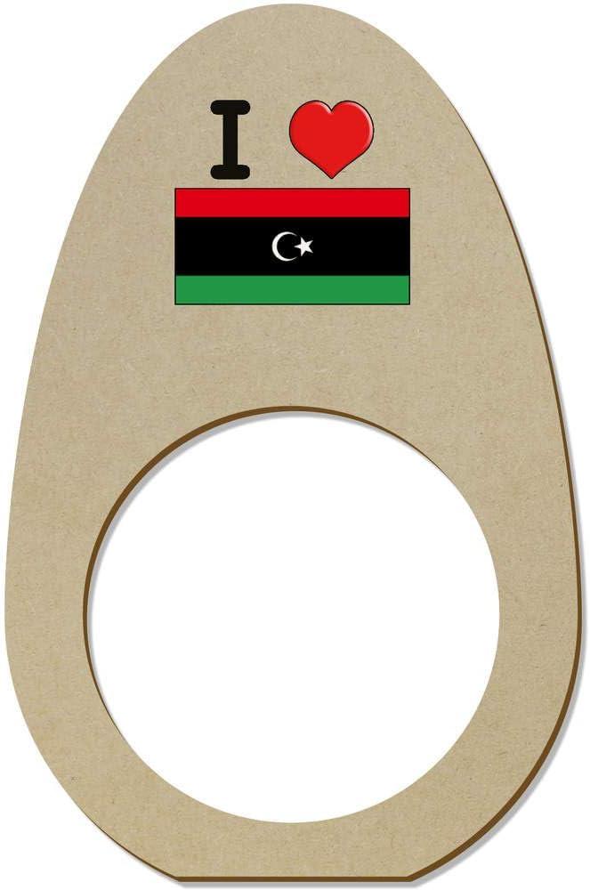 NR00000441 Azeeda 5 x I Love Libya Wooden Napkin Rings Holders