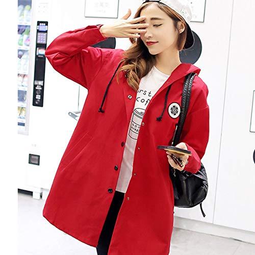 872e733505496 de à à Femme lâche Style Facile Coupe Rouge Impression Porter avec Longue  Section coréen Lettre ...