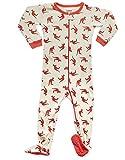 Leveret Kids Kangaroo Baby Boys Footed Pajamas Sleeper 100% Cotton (Size 6-12 Months)