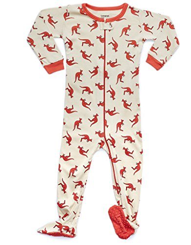 Leveret Kids Kangaroo Baby Boys Footed Pajamas Sleeper 100% Cotton (Size 6-12 -