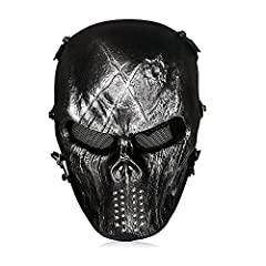 Full Face Protection Airsoft Mask The OutdoorMaster Skull Mask offers full face protection for airsoft and other outdoor sports. Keeps your whole face protected. A sturdy metal mesh eye shield to protect your eyes.Cool Looks Available in 9 di...