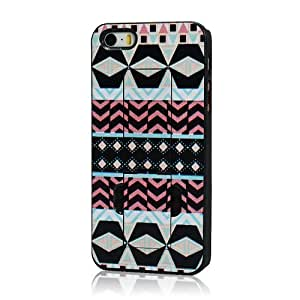 1x MOLLYCOOCLE PC Hard Protector Case with Blue Black White Tribal Pattern for iphone 5 5G 5S