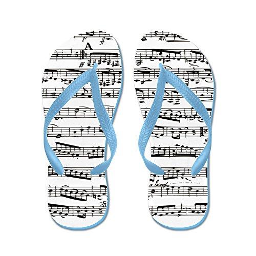 Note Di Musica Da Cafepress - Infradito, Sandali Infradito Divertenti, Sandali Da Spiaggia Blu Caraibico