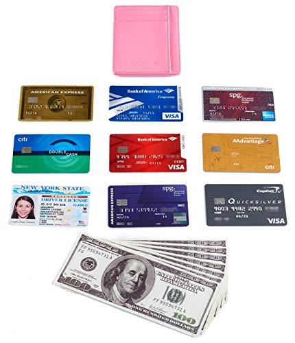 Kalmore Credit Card Holder Genuine Leather Slim & Thin Pocket Wallet Minimalist Wallet Money Clip RFID Blocking by KALMORE (Image #6)