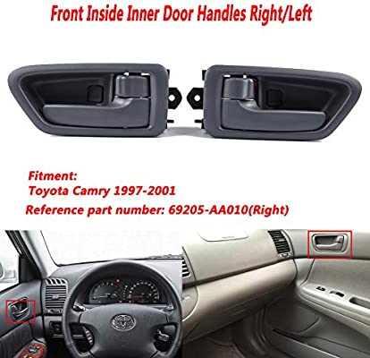 Outside Door Handle Smooth Black for 97-01 Toyota Camry Pair Rear LH /& RH