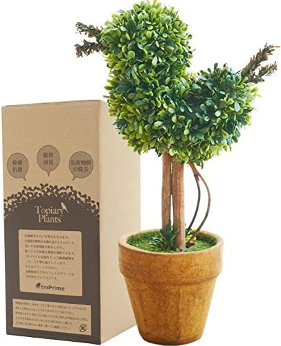 [スポンサー プロダクト]観葉植物 光触媒 キレイな空気を実感 人工 フェイクグリーン ミニ卓上インテリア 消臭効果 小鳥