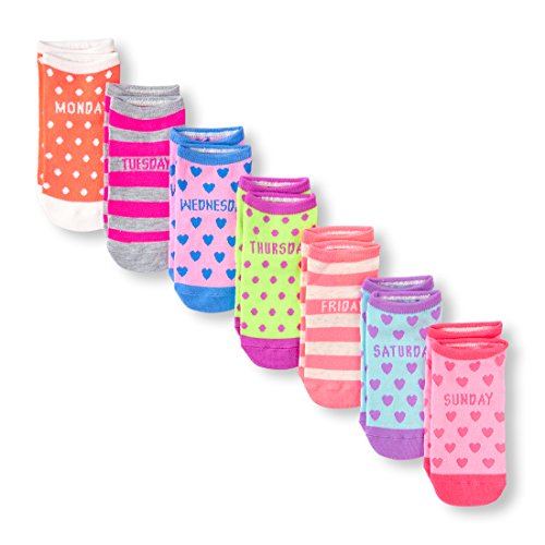 The Children's Place Big Girls' Ankle Socks, Multi Clr 01415