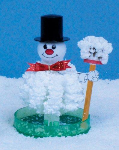 White 6 inch Crystal Growing Snowman - *Seasonal ()