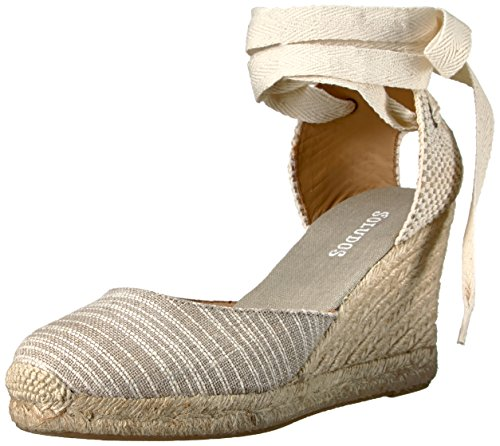 Striped 90mm Womens Wedge 90mm Soludos Striped Wedge Tall Natural Tall XfnXSqRI