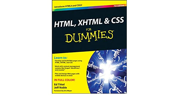HTML, XHTML and CSS For Dummies (English Edition) eBook: Ed Tittel, Jeff Noble: Amazon.es: Tienda Kindle