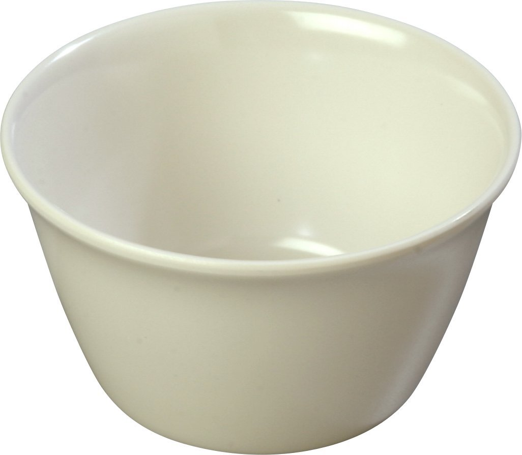 Carlisle 4354042 Bouillon Cups, Set of 24 8-Ounce, Melamine, Bone