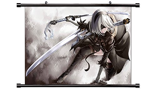 Nier Automata Video game Wall Scroll Poster (32x19) Inches