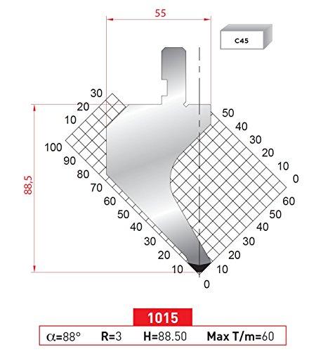 EURO - AMADA TYPE PRESS BRAKE PUNCH ES-1015 16,33 INCH 415 MM ... (Press Brake Punch)