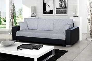 Places Design GrisAmazon Canapé 3 Noir Et Convertible Mike Chloe E9IHDW2