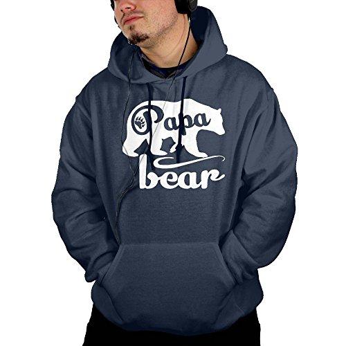 discount Huigvdhu Papa Bear Cotton Polyester Hoodies