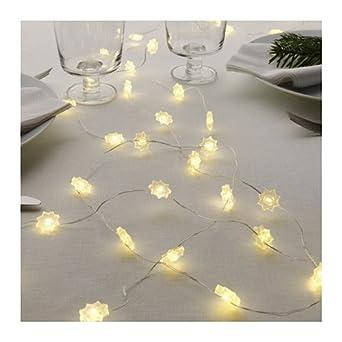 IKEA STRALA LED Lichterkette 40 Schneeflocken 55m