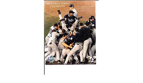 New York Yankees 1998 World Series Champions Celebration Unsigned 8x10 Photo
